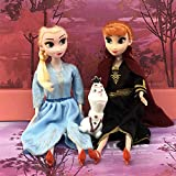 Yangzou Frozen Character Toy, Q Version Anime Snow White Doll Cake Decoration Doll Hecho A Mano Modelo Family Car Decoration Sculpture Doll (2Pcs / 1 Set)