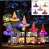 5 PCS Halloween Hexenhut Leuchtender Orange Hexenhut Für Cosplay Party Hut Zeigen Kopfbedeckung Ornament
