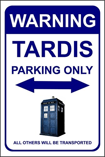 "Doctor Who Parkschild ""Tardis Parking"" – 3 mm Alu-Verbundstoff, sehr langlebig, Tardis Dr. Who"