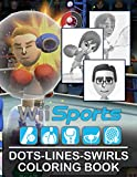 Wii Sports Dots Lines Swirls Coloring Book: Premium Wii Sports Adult Activity Swirls-Dots-Diagonal Books For Men And Women