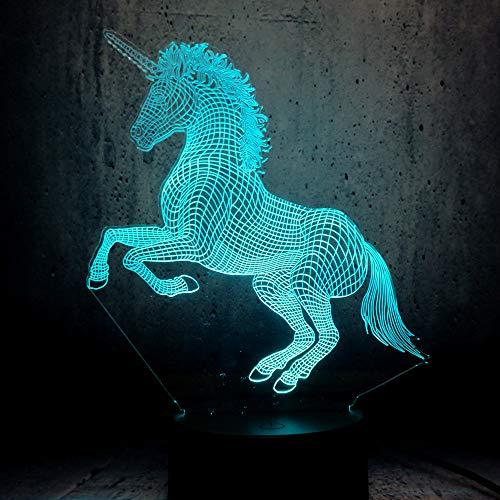 Veilleuse 3D pour animal de compagnie - 7 couleurs - Télécommande - Pour chambre à coucher - Décoration principale - Cadeau de Noël