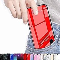 iPhone12 iPhone12Pro iPhone12ProMax iPhone12mini ケース iphone12 カバー 背面強化ガラスケース 硬度9H 薄型 軽量 キズ防止 保護カバー おしゃれ アイフォン かわいい 716 (iPhone12/12 PRO/6.1インチ, Aブルー/716)
