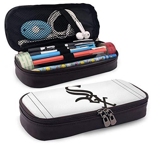 Ch-ICA-Go W-Hite S-Ox - Estuche rectangular para lápices, cajas de papelería para niños, adolescentes, niñas, niños, hombres, mujeres