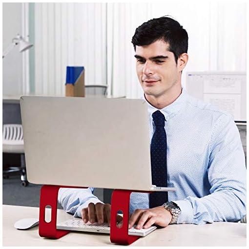 SOUNDANCE Soporte para Portátil, Soporte Ordenadores Portátiles, Soporte para Laptop de Aluminio, Bases de Portátiles… 7