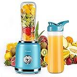 Smoothie Blender,Personal Blender for Shakes and Smoothies,Small Juice Blender for Kitchen with BPA-Free 20Oz Blender Bottle,Ice Milkshake/Frozen Fruit Vegetable Drink,250w