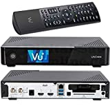 VU + UNO 4K SE - UHD HDR 1 x DVB-S2 FBC Sat Twin Tuner E2 Linux Receiver YouTube, Satellite, CI + lector de tarjetas, reproductor multimedia, USB 3.0, + EasyMouse cable HDMI, 1 TB HDD, 150 Mbit WiFi