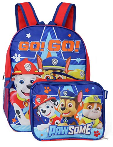 Nickelodeon Boy Paw Patrol 16' Backpack With Detachable Matching Lunch Box