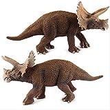 bolin Dinosaurio Simulación Triceratops Juguete Modelo Suave 10cm PVC Plástico Pintado A Mano...