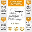 Turmeric Curcumin Highest Potency 95% Curcuminoids 1950mg with BioPerine Black Pepper for Ultra High Absorption, Made in USA, Best Vegan Joint Support by Natures Nutrition - 60 Capsules #1