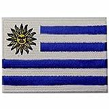 Uruguay-Flagge Uruguayischen Nationales Emblem Bestickter Aufnäher zum Aufbügeln/Annähen