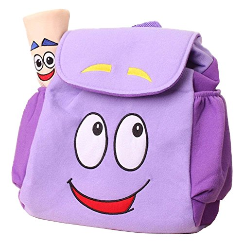 IGBBLOVE Dora Explorer Backpack Rescue Bag with, Purple, Size 10'H x 9'W x 5'D
