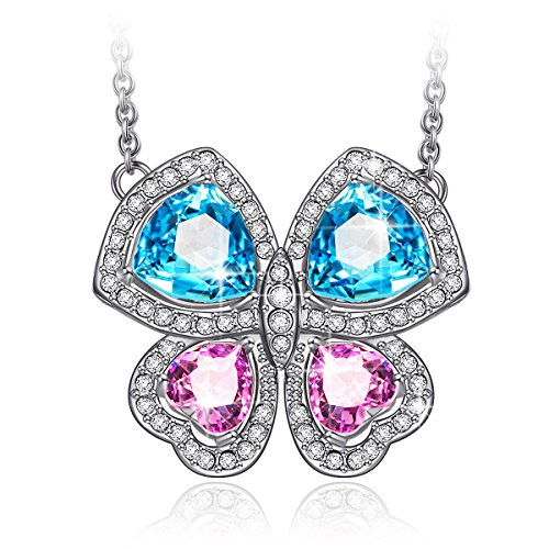 LADY COLOUR Jewelry Gifts for Mom Gifts for Women Necklace Crystals Butterfly Necklace Jewelry Birthday Gifts for Girls Mom Gifts for Teens Wife from for...