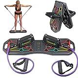 Linlook Push Up Board Faltbare Liegestütze Brett mit Handgriff und Kordelzug, Multifunktionales Fitnessgeräte Zuhause für Arm Rücken Bauch Muskeltraining und Ausdauertraining