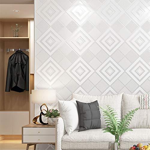 Papel pintado Papel tapiz No autoadhesiva simple papel pintado moderno tridimensional Rombo Europea del papel pintado 3D Material PVC conveniente for el dormitorio del fondo del sofá TV de la sala de