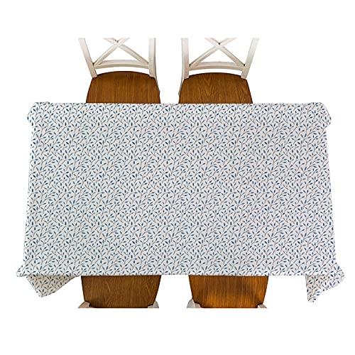 XXDD Mantel de Lino Impermeable con diseño Floral pequeño de Estilo Pastoral, Mantel Decorativo de Mesa de Picnic para el hogar, Cocina, A8, 140x140cm