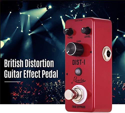 SWEET Guitarra Pedal De Efectos De Distorsión DIST-I Aleación De Aluminio De La Cáscara True Bypass con Fuerte De Frecuencia Intermedia Y De Alta Distorsión
