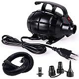Kecheer Compressore d aria portatile,Pompa per piscina gonfiabile/materasso/palloncino,Gonfiatore elettrico 220V 600W
