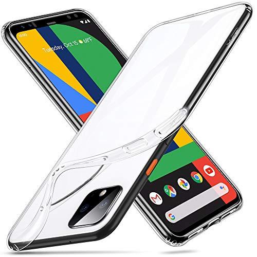 ESR Klar Silikon Entwickelt für Google Pixel 4 XL Hülle - Dünne klare weiche TPU Schutzhülle - Flexible Handyhülle mit Mikrodot-Muster & Bildschirm-Kameraschutz für Pixel 4 XL - Klar