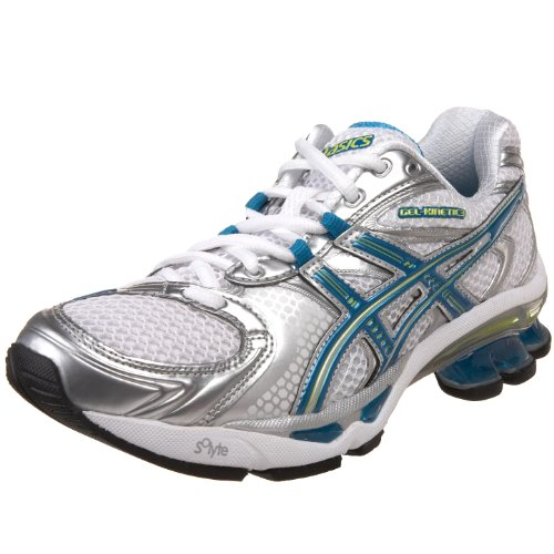 ASICS Women's GEL-Kinetic 3 Running Shoe,White/Island Blue/Lime,13 M US