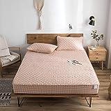 haiba Sábana bajera o fundas de almohada de franela de algodón cepillado, térmica, suave y acogedora, sábana bajera ajustable de 100 x 200 + 35 cm