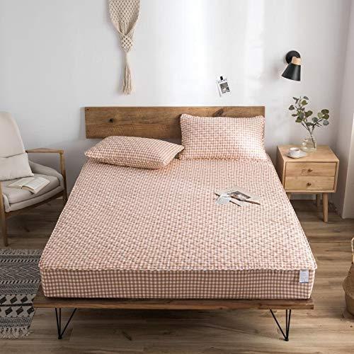 haiba Sábana bajera ajustable para cama individual, microfibra cepillada suave y resistente a las arrugas, 200 x 220 + 15 cm