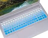 Keyboard Skin Cover for 15.6' HP Envy x360 2-in-115M-BP012DX 15M-BQ021DX 15M-BQ021DX |Newest HP Pavilion 15.6' Series |2018 HP Envy 17.3' Laptop |HP Spectre x360 Keyboard Protector - Gradual Blue