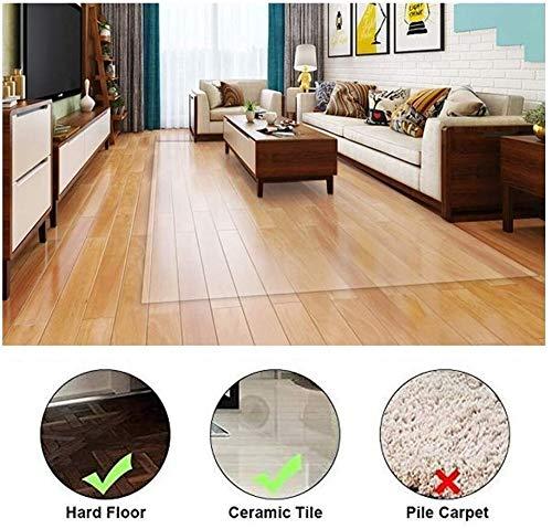 ZWR vloerstoel matten zacht glas PVC transparant tafelkleed krasbestendig antikald geluid absorberende beschermende film voor banket eetkamer, 3 diktes