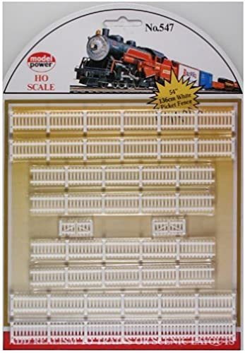 lo último Model Power HO Scale blanco Picket Fences Fences Fences by Model Power  Más asequible