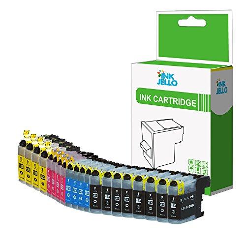 InkJello Compatibile Inchiostro Cartuccia Sostituzione per Brother DCP-J152W DCP-J4110DW DCP-J552DW DCP-J752DW MFC-J4410DW MFC-J4510DW MFC-J4610DW MFC-J470DW LC-123 (BKCMY 20-Pack)