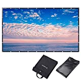 Instahibit 150' 16:9 Portable Front Projection Screen Foldable PVC 3D 4K HD with Holes Home Theater Yard Camping