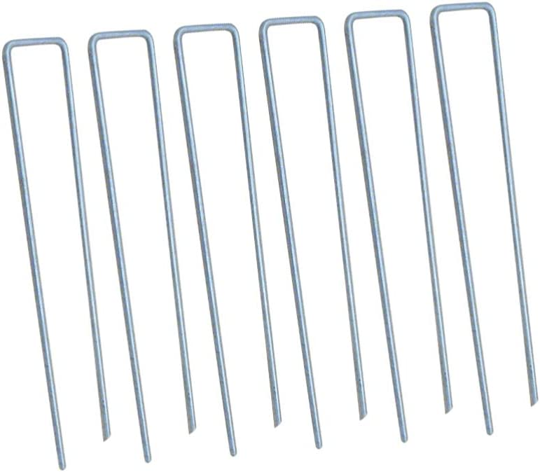 TOPBATHY 100pcs In a popularity Garden Landscape Staples Oakland Mall Stakes Sod Square Pins