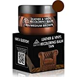 FORTIVO Brown Leather Repair Kits for Couches - Leather Color Restorer for Furniture, Car Seats, Furniture - Leather Recoloring Balm Leather Repair Cream Leather Repair for Upholstery