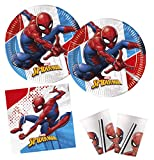 Procos 10132630 Partyset Marvel Spiderman Super Hero, kompostierbar, bunt