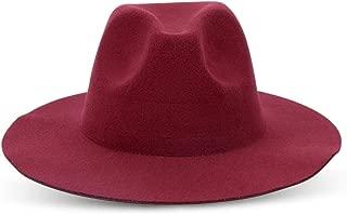 YANGBM Ladies Hat, Autumn and Winter Retro Wavy Top Hat, Windproof Woolen Hat (Color : E)