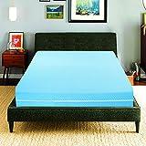 Elafy Protector de colchón con cremallera completa extra profundo   Azul Blanco Protector de colchón para cama anti insectos, protección antiácaros, antialérgica (Super King (183 x 200+30 cm)