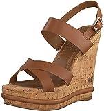 Tommy Hilfiger Corporate Leather Wedge Sandal, Sandalias Punta Cerrada para Mujer, Marrón (Summer Cognac Gu9), 41 EU