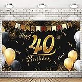 Geburtstag Deko 40 Mann,Hintergrund Banner Geburtstag,Stoff Schild,Jahrestag Foto,40. Geburtstag Dekoration,40 Jahre Geburtstag Deko,Geburtstag Party Deko 40