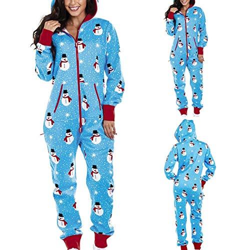 YYYSHOPP Pijama de mujer S con capucha para el hogar de Navidad, pijama para adultos, ropa de dormir para mujer, traje de dormir (color: C, tamaño: XXL)
