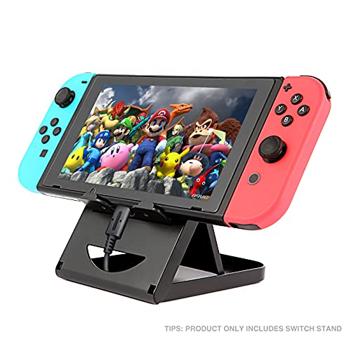 Nintendo Switch Stand/Switch LITE Stand,Foldable,Adjustable and Portable table play stand for N-switch console playing and charging,Compatible with ipad/ Mini/iPad Pro Air, smartphone and kindle