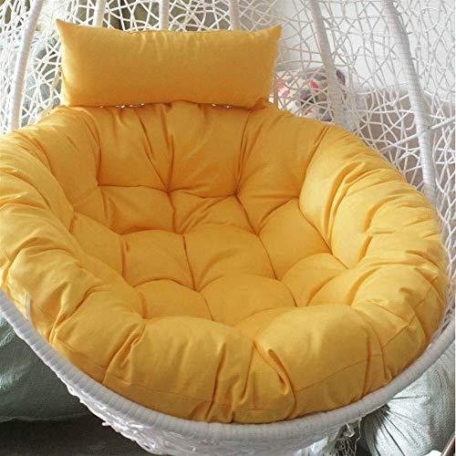 WSJ Coussin à bascule à suspendre pour chaise avec hamac à suspendre sans support Multicolore Coussin de chaise à bascule épais nid de chaise à suspendre 105 cm H F, G, 105cmB