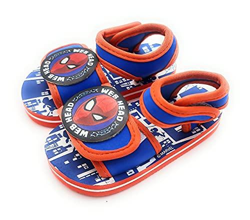 Sandalias chanclas con velcro para niño Spiderman para playa y piscina (numeric_22)