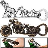 Abrebotellas de Moto Abrebotellas Elefante Abridor de Cerveza de Metal Divertido Regalo Genial en Forma de Motocicleta Regalos de Accesorios de Cerveza Elefante para Hombres