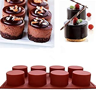 Tools Cakes - 8 Holes Cylinder Shaped Mold Silicone Molds Bakeware Baking Wedding Pastry Candy Soap Decorating - Service Cutter Tool Diy Press Camera Bearing Luggage Black Cylinder