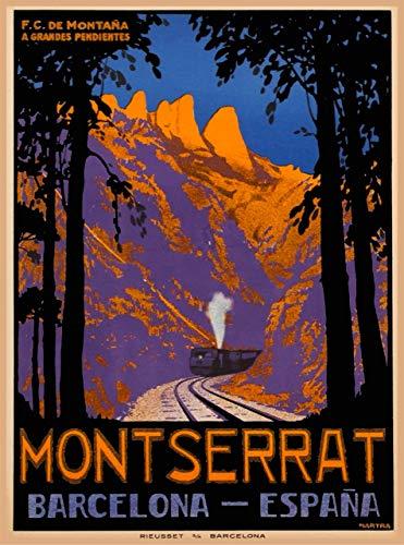 Letrero retro de chapa de Montserrat, Barcelona, España, España, España, España, Europa,...