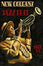 "New Orleans Jazz Festival Music Trumpet Player 12"" X 16"" Image Size Vintage Poster Reproduction, We Have Other on Amazon"