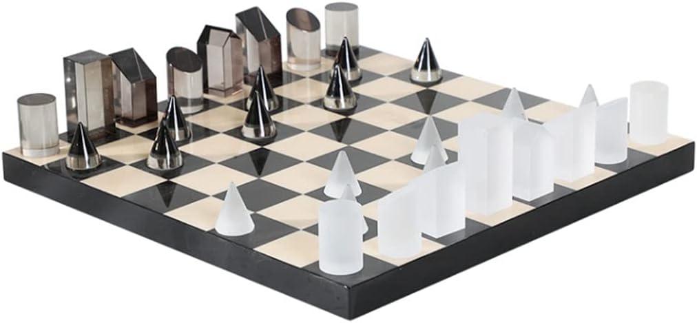 International Chess Set Synthetic Crystal Max 58% OFF Geometric Denver Mall Shape
