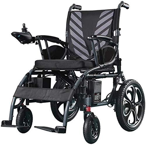 ZOUSHUAIDEDIAN Silla de ruedas eléctrica, silla de energía portátil, multifunción inteligente, silla de ruedas asistida automática, caja fuerte y fácil de conducir para los ancianos discapacitados, ne