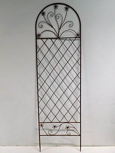 Rankgitter Rankhilfe Zaunelement Zaun Spalier Metall 169 x 50 cm SW130365