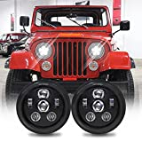 DOT Approved 7 Inch Round LED Headlights with...
