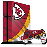 Skinit Decal Gaming Skin Compatible with PS4 Console and Controller Bundle - Officially Licensed NFL Kansas City Chiefs Design